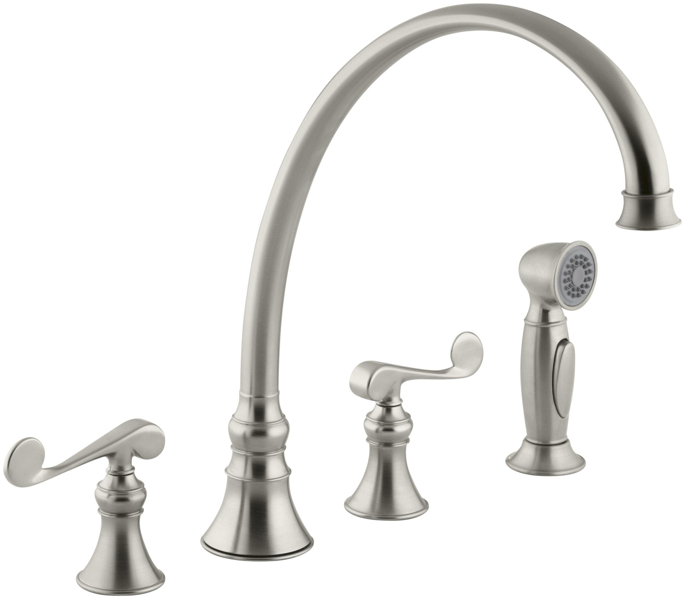 K 16111 4 Bn Bv Cp Kohler Revival 4 Hole Kitchen Sink Faucet With 11