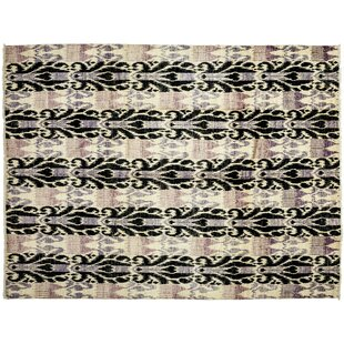 Affordable One-of-a-Kind Ikat Hand-Knotted Multicolor Area Rug By Darya Rugs