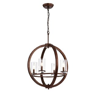 Millwood Pines Bear 4-Light Globe Chandelier