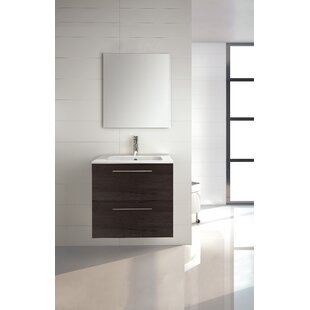 Kutz 32 WallMounted Single Bathroom Vanity Set with Mirror