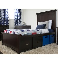 Boston Twin Panel Bed with Storage by Craft Kids Furniture
