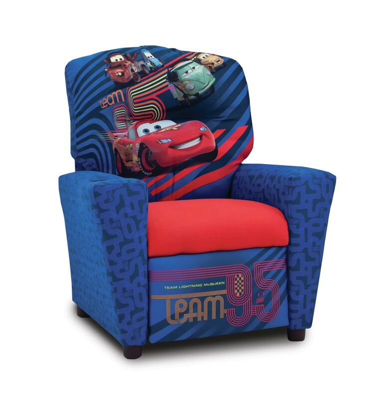 default_name - KidzWorld Disney's Cars 2 Kids Recliner With Cup Holder & Reviews