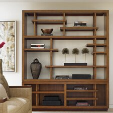 Island Fusion Taipei Media 92 Accent Shelves Bookcase by Tommy Bahama Home