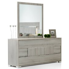 Marley 3 Drawer Dresser with Mirror by Wade Logan