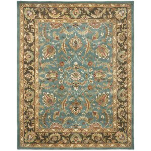 Cranmore Hand Tufted Blue/Brown Area Rug