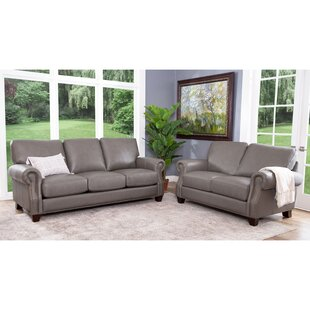 Cairnbrook 2 Piece Leather Living Room Set by Darby Home Co
