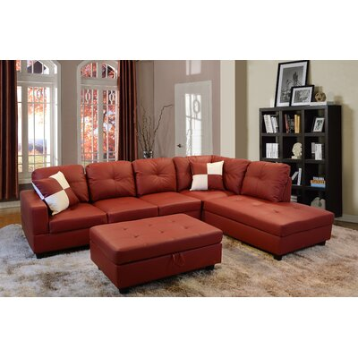 Astonishing Andover Mills Russ Sectional With Ottoman Orientation Right Alphanode Cool Chair Designs And Ideas Alphanodeonline