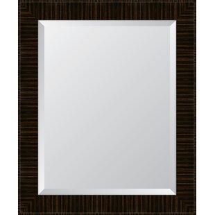 Melissa Van Hise High Gloss Zebra Walnut Resin Frame Wall Mirror
