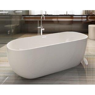 Oval Acrylic 59 inch  x 28 inch  Freestanding Soaking Bathtub