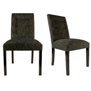 Ordinaire Kacey Straight Back Upholstered Parsons Chair (Set Of 2)