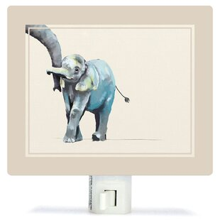 Oopsy Daisy Non-Personalized You And Me Elephant Canvas Night Light