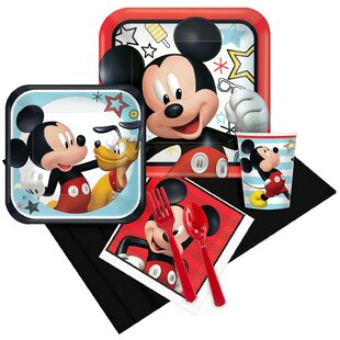 Mickey Mouse on the Go 8 Guest Plastic Disposable Party Kit Set (Set of 41)
