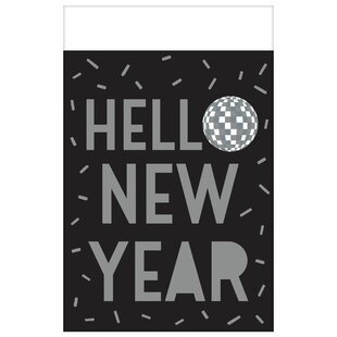 New Year's Disco Ball Drop Plastic Disposable Table Cloth (Set of 3)