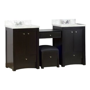 70 Double Transitional Bathroom Vanity Set by American Imaginations
