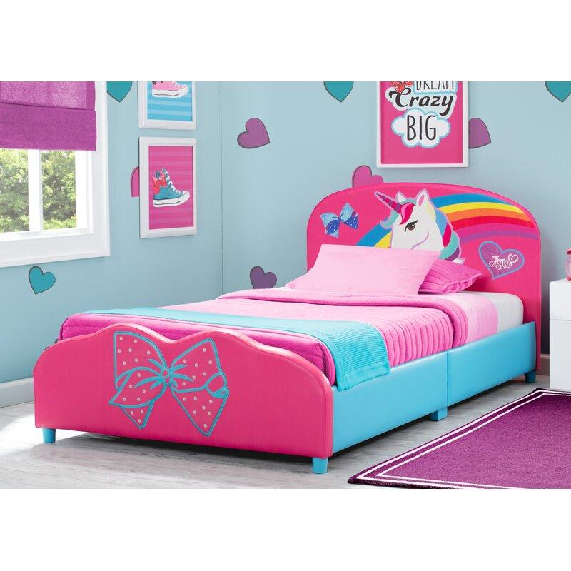 Delta Children JoJo Siwa Upholstered Twin Platform Bed
