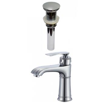 Avanities 1 Hole Cupc Approved Lead Free Brass Faucet Set In Chrome Color Drain Incl Wayfair