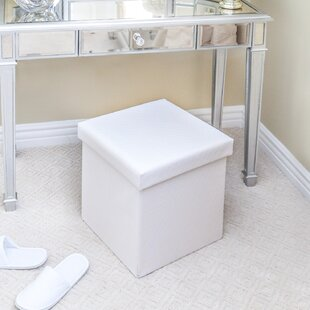 Rebrilliant Frederick Quilted Fold-able Storage Ottoman (Set of 2)