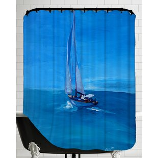 Chesapeake Sailing Into The Blue Single Shower Curtain