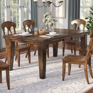 Three Posts Spencerville Extendable Dining Table