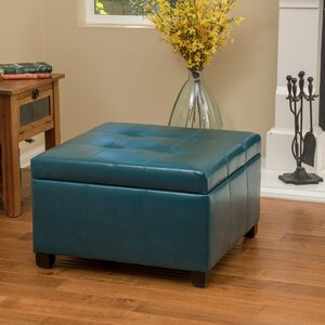 Massey Faux Leather Storage Ottoman