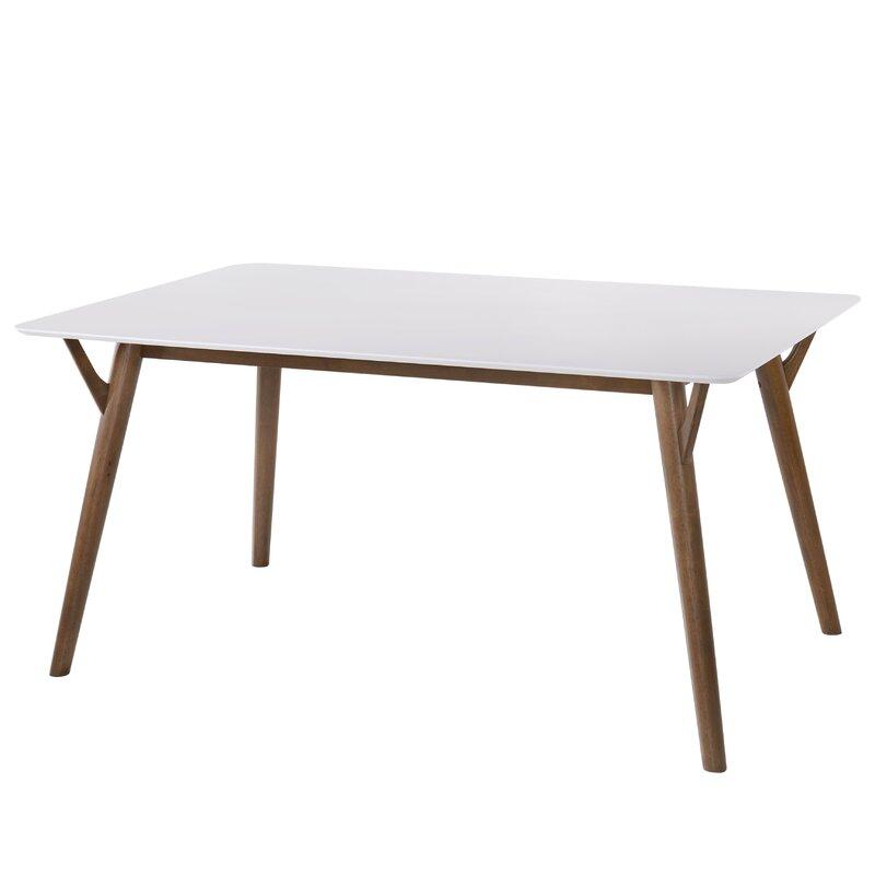 George Oliver  Boose Solid Wood Dining Table Base Color: Walnut