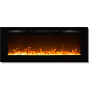 Moda Flame Cynergy Crystal Stone Built-In Wall Mount Electric Fireplace