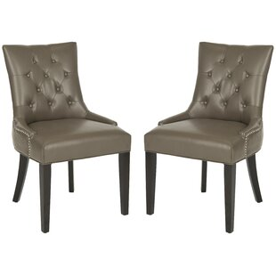 Affordable Price DeMontfort Upholstered Dining Chair (Set of 2) by Alcott Hill Reviews (2019) & Buyer's Guide