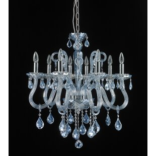 Perla 8-Light Crystal Chandelier by Rosdorf Park