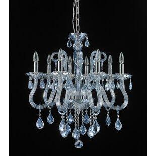 Perla 8-Light Crystal Chandelier by Rosdo..