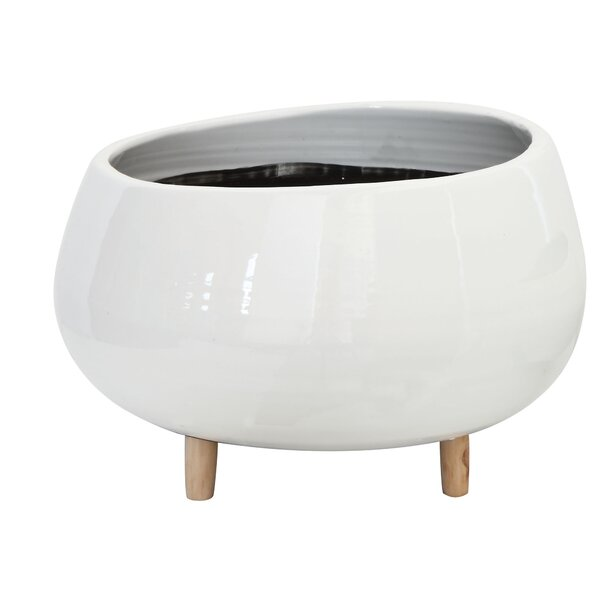 White Loughlin Ceramic Pot Planter by Allmodern