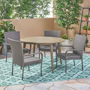 Hoehne Outdoor 5 Piece Dining Set by Bung..