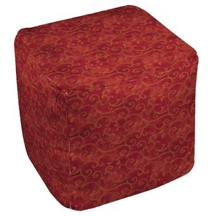 Zinnia Damask Pouf by Manu..