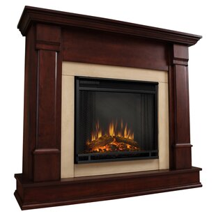 Cherry Wood Electric Fireplace Wayfair