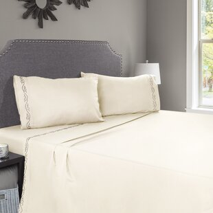 Breault Embroidered Microfiber Sheet Set