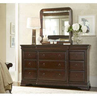 Baily 12 Drawer Dresser with Mirror