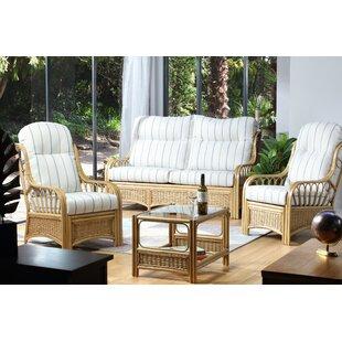 Cheap Price Thornby 4 Piece Conservatory Sofa Set