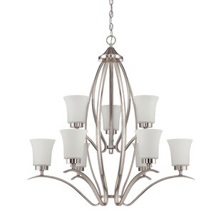 Red Barrel Studio Grampian 9-Light Shaded Chandelier