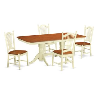 Pillsbury Modern 5 Piece Wood Dining Set ..