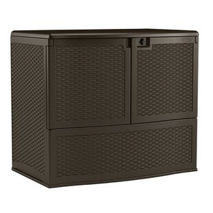 Vertical 195 Gallon Wicker Deck Box