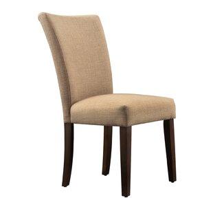 Three Posts Hindsboro Linen Parson Chair (Set of 2)