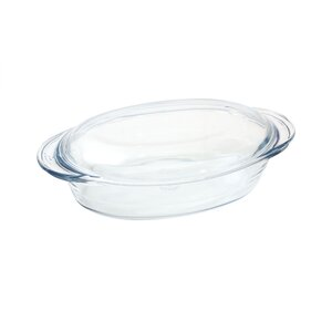 Glass Oval Casserole with Lid