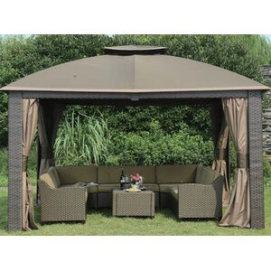 Replacement 4 PIece Curtain for 10' W x 12' D Riviera Resin Gazebo