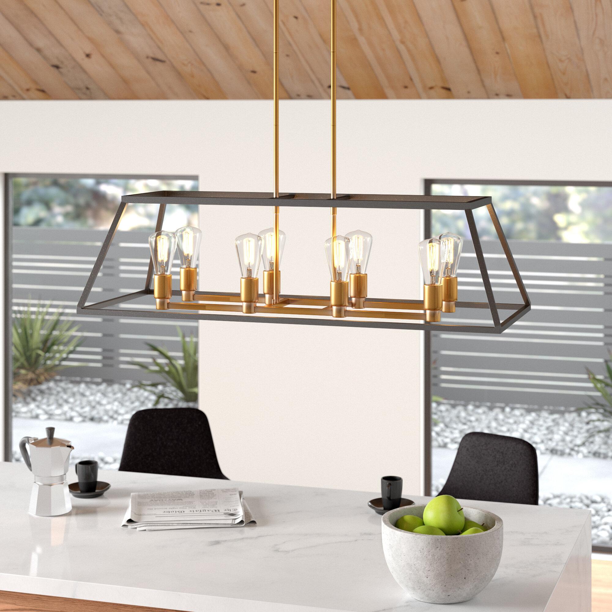 Shisler 8-Light Kitchen Island Linear Pendant