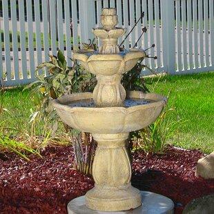 Fiberglass Birds Delight Outdoor Water Fountain