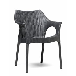 Webber Rattan Style Outdoor Stacking Dining Chair By Bay Isle Home