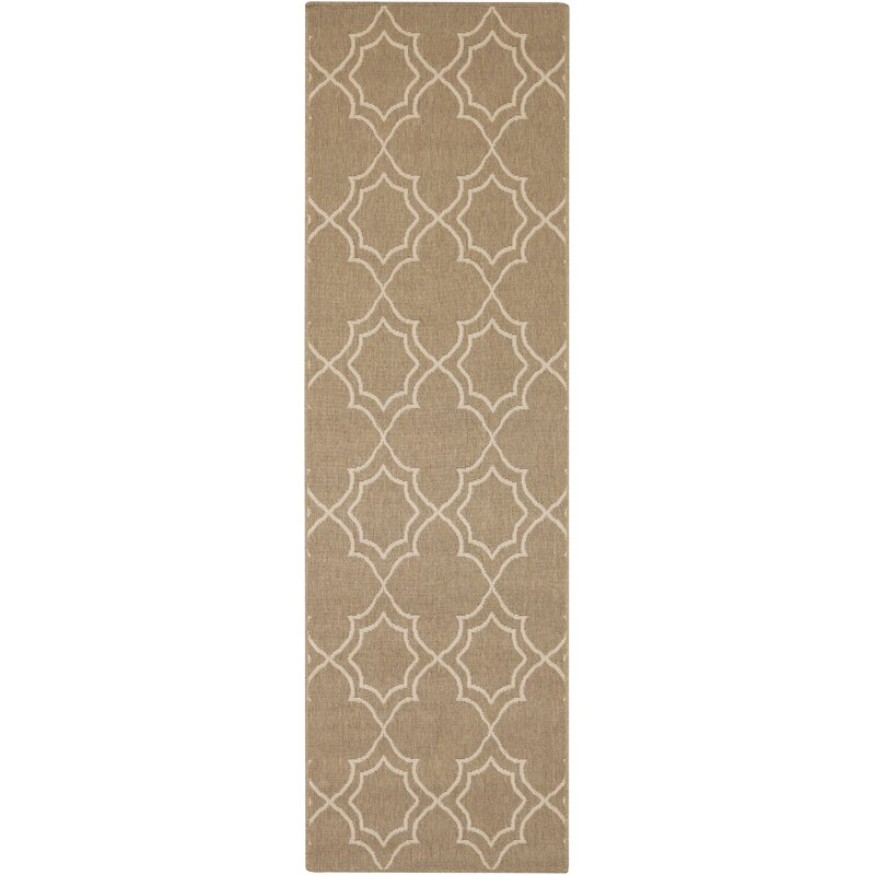 Alcott Hill Amato Beige Indoor/Outdoor Area Rug, Size: Runner 23 x 79