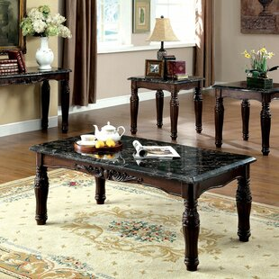 Delvecchio 3 Piece Coffee Table Set by Astoria Grand