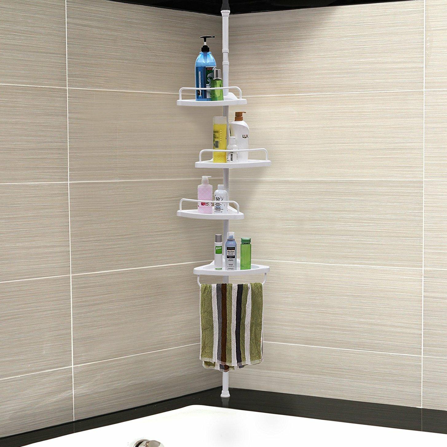 4 Tier Adjustable Shower Corner 35 X 305 Cm Bathroom Shelf