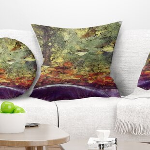 abcd9a5eca4 Landscape Printed Abstract Fall Watercolor Drawing Pillow