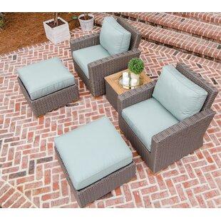 Baysinger 5 Piece Sunbrella Seating Group with Sunbrella Cushions